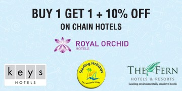 Buy 1 Get 1 + 10% off on Chain Hotels @ Yatra – Travel
