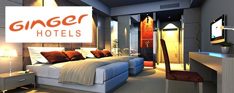 Flat 50% off on Ginger Hotels