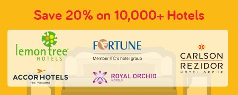 Save 20% on 10,000 Hotels